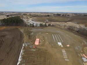 Upper angle view of the union gas bright compressor work project