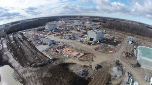 Upper angle view of the union gas lobo project