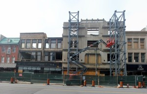 Picture of the new Fanshawe college building under construction downtown london